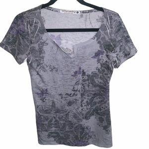 Soft Surroundings Burnout Printed T-Shirt
